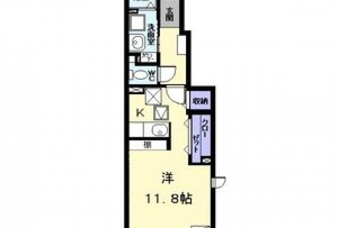 Lis blanc(リ・ブラン 101号室 (名古屋市中川区 / 賃貸アパート)